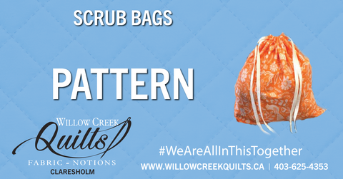 Scrub Bag Pattern - FREE - DIGITAL DOWNLOAD / FAQ's