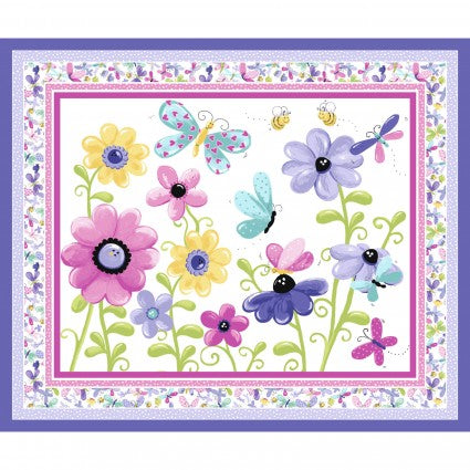 "Flutter the Butterfly panel - Lilac - SB20310-620 - 35.5""(90cm)"