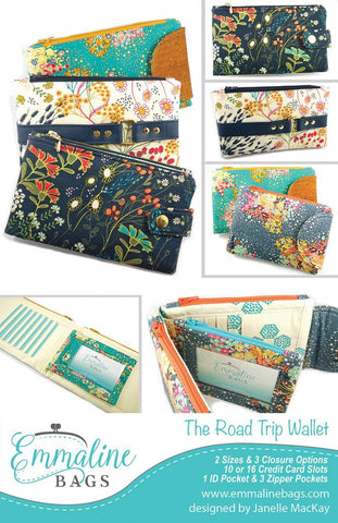 The Road Trip Wallet pattern - EMMB-117