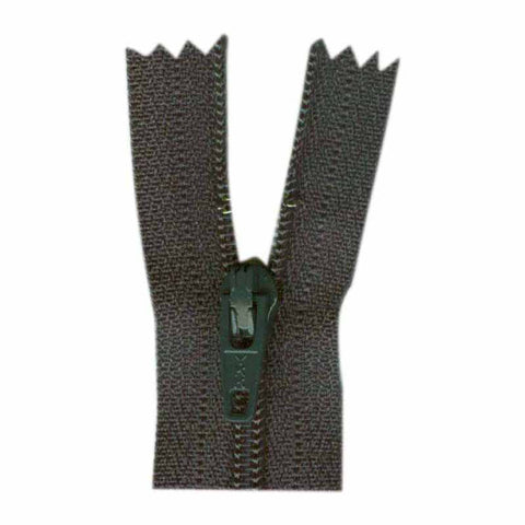 "23cm or 9"" - Closed End Zipper - Charcoal - 0023579"
