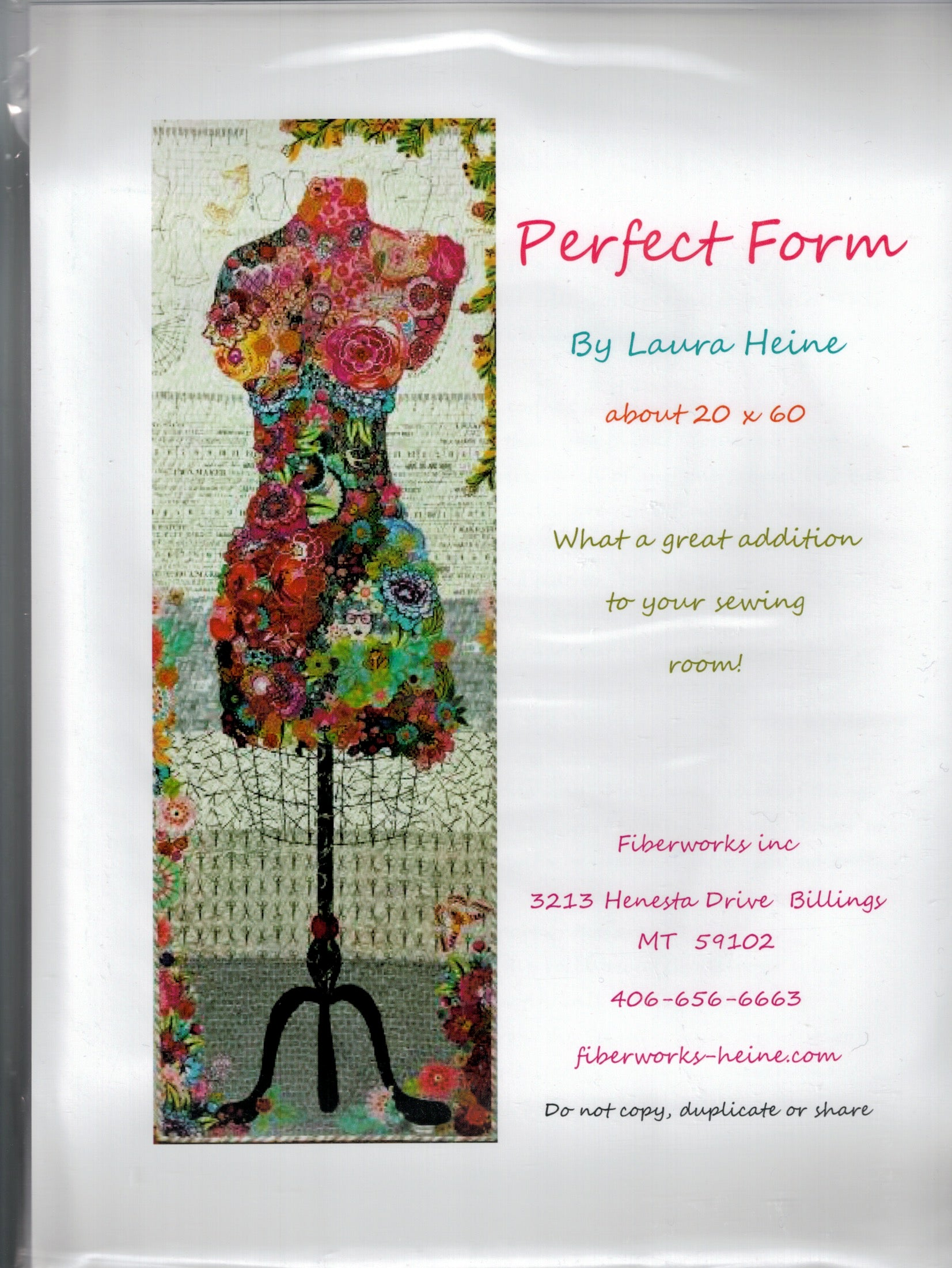 Perfect Form - Dress Form Collage Pattern - by Laura Heine