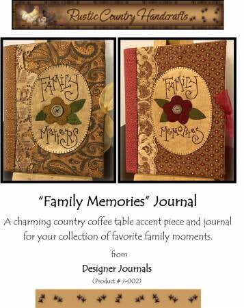 Family Memories Journal From Designer Journals - J-002