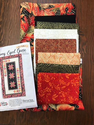 Starry Eyed Geese Autumn Table Runner 28x48 - kit