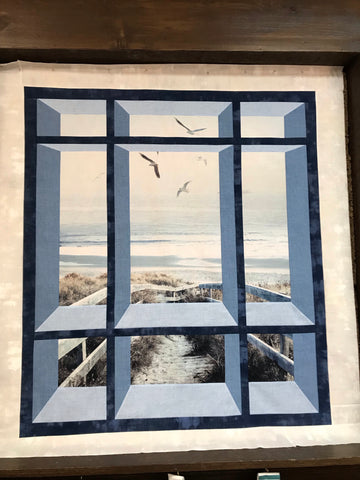 Kit - Window on the Atlantic Boardwalk 46x51 with binding