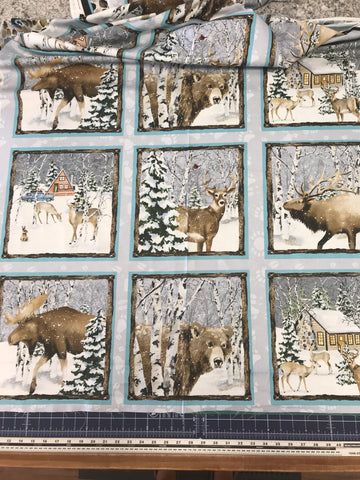 "Snowy Woods - 9085P-90 panel - 24""(61cm)"