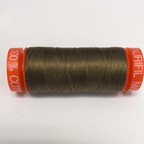 Aurifil Thread - 1318 - Dark Sandstone - 50wt - Small Spool