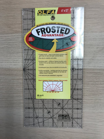 "Frosted Advantage Rulers - 6"" x 12"" - QR6x12 1071819"