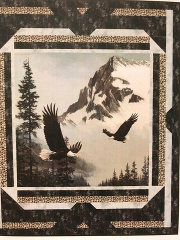 "Kit - Eagles in Flight 58x70"" with binding"