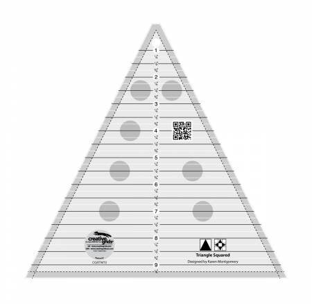 Creative Grids Ruler - Triangle Squared - CGRTMT2
