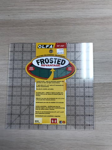 "Frosted Advantage Rulers - 9.5'' x 9.5"" - QR9S-1071799"
