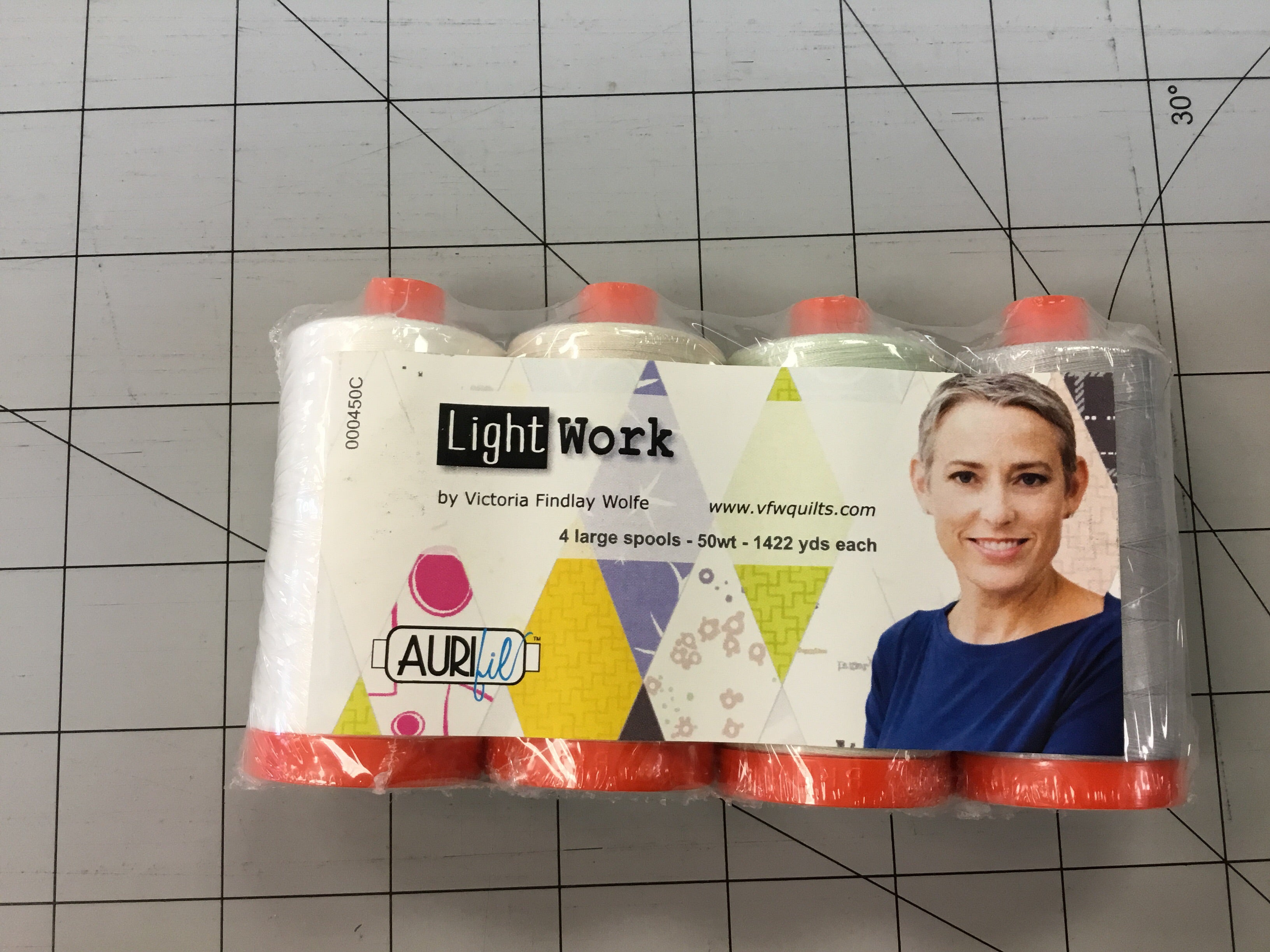 Aurifil Light work Collection by Victoria Findlay  4 pack