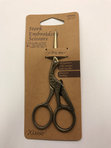 "Stork Embroidery Scissors - 4.5"" - B5511"