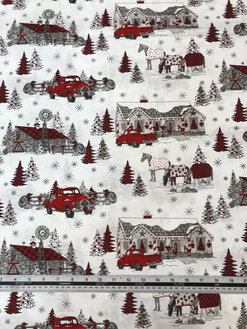 Western Christmas - Christmas Scenic - 9150 - 01 White