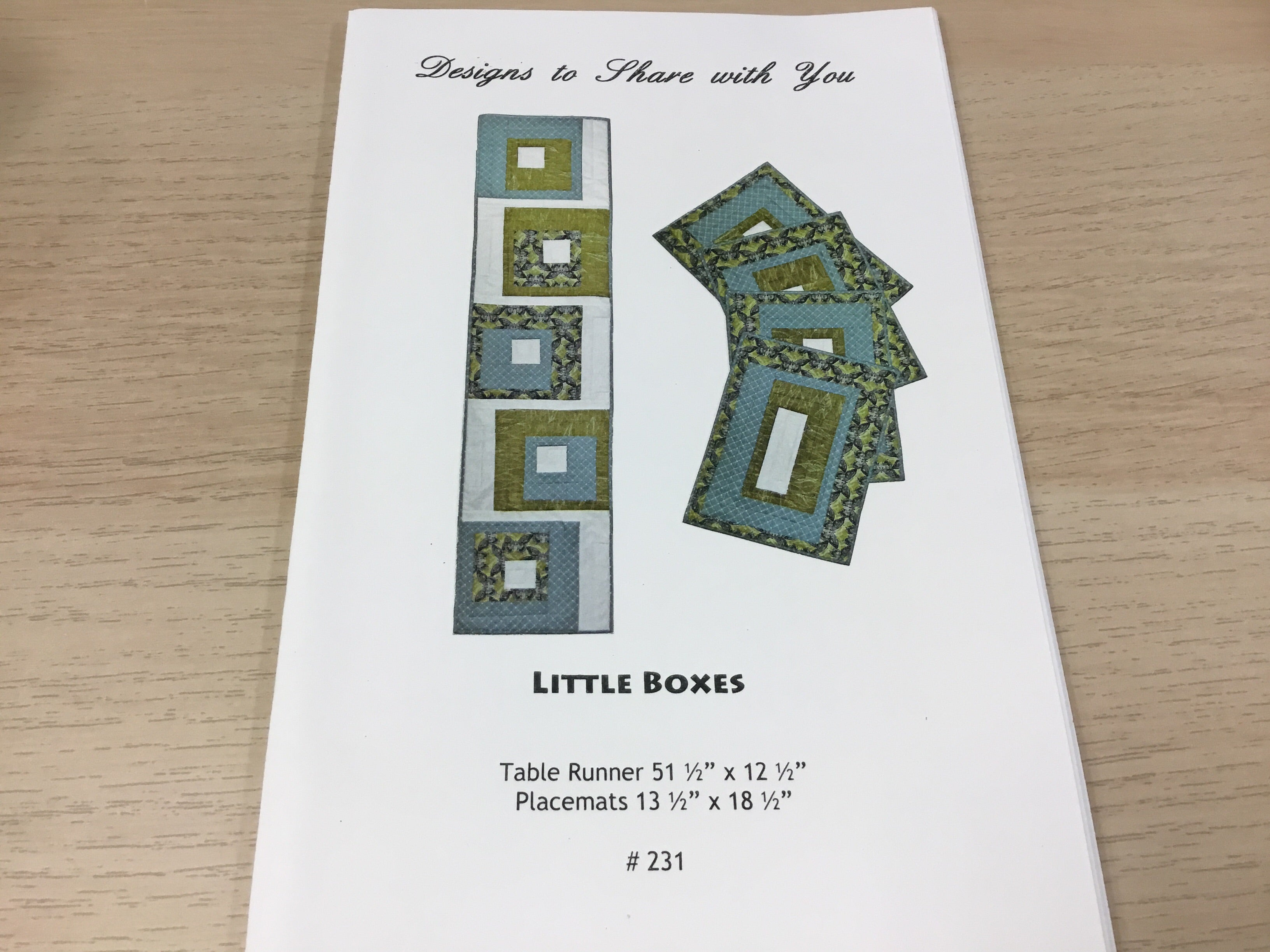 Little Boxes - Designs to share with you - pattern - 231
