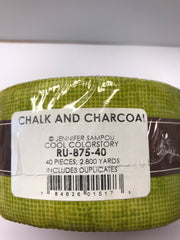 Chalk and Charcoal Roll Up - Cool Colorstory - RU-875-40