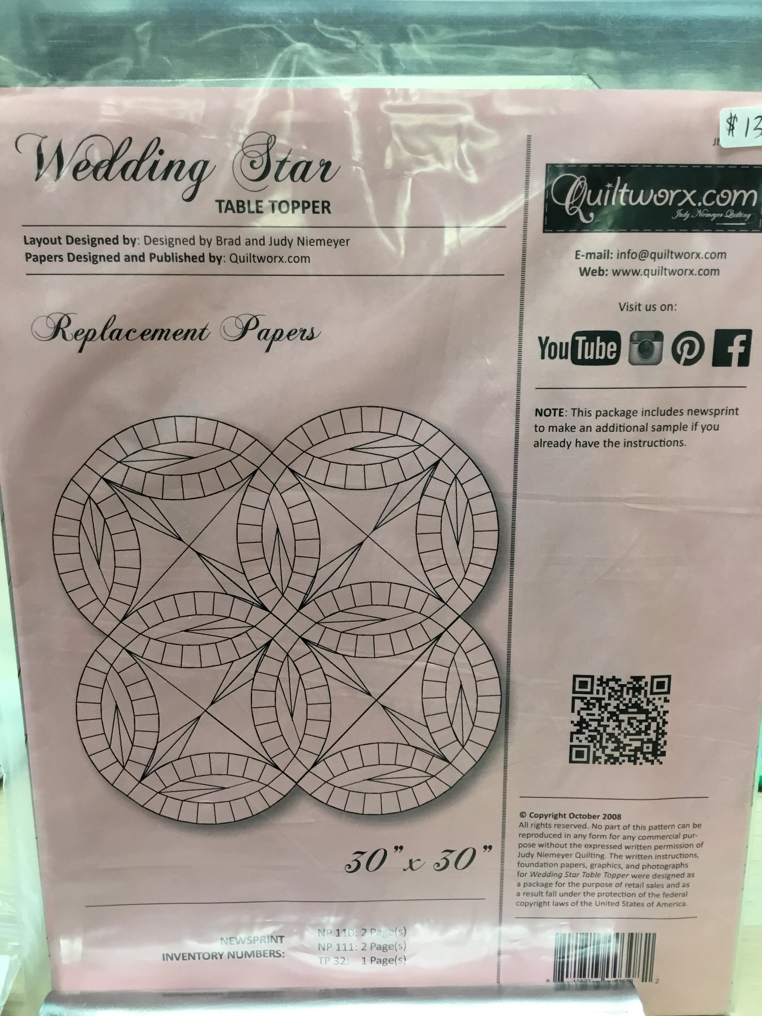 Wedding Star Table Topper Replacement Papers