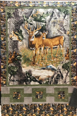 Oh Deer, Realtree Lap Quilt Kit 43x66 top/binding