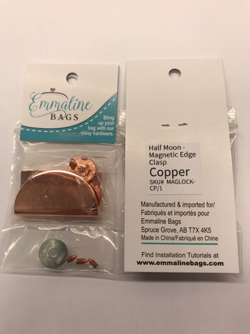 Half Moon Magnetic Edge Clasp - Copper Finish