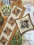 Rocky Mountain Bear Claw - Table Runner & Pillow pattern