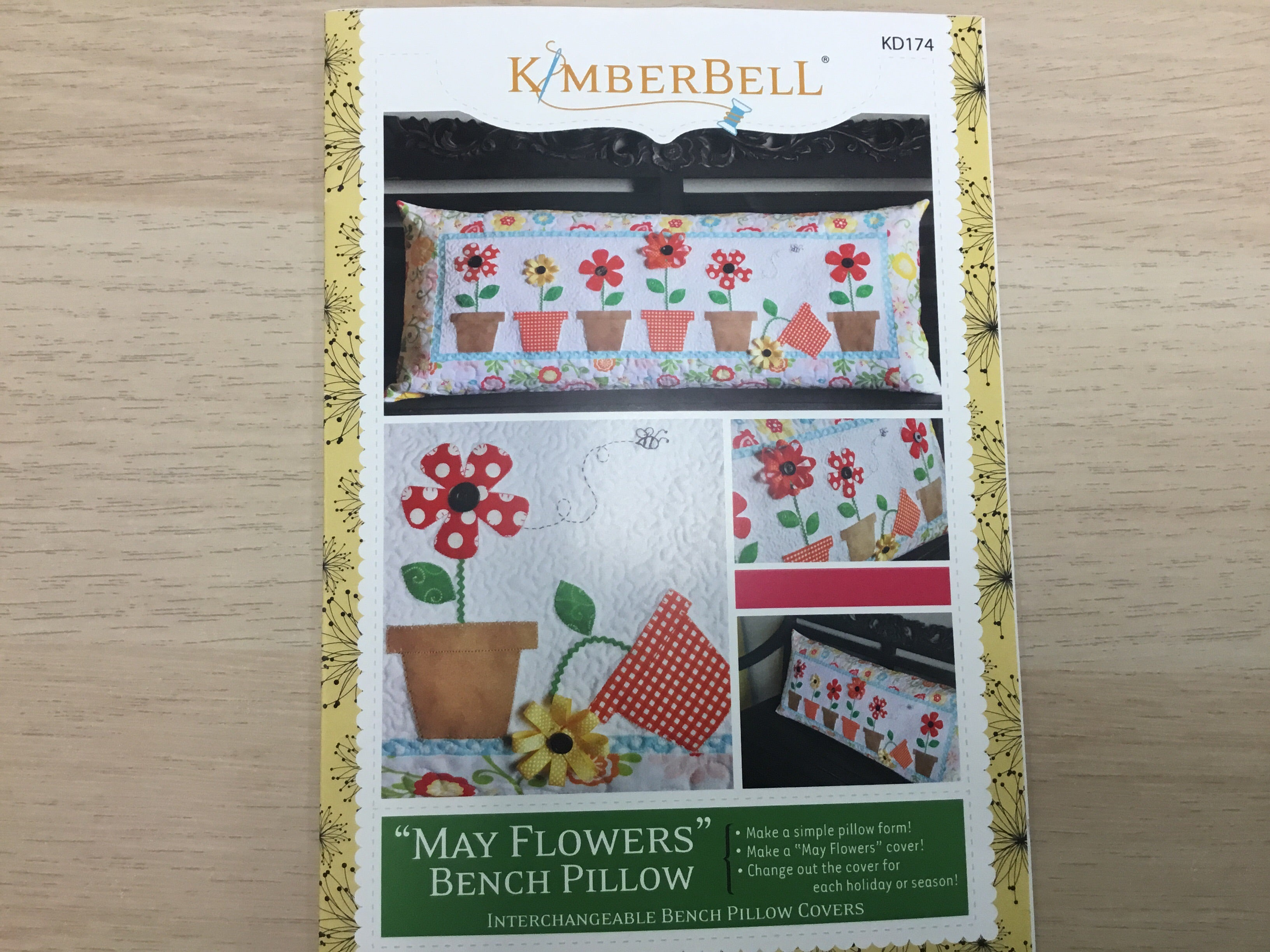 May Flowers Bench Pillow Pattern - KD174