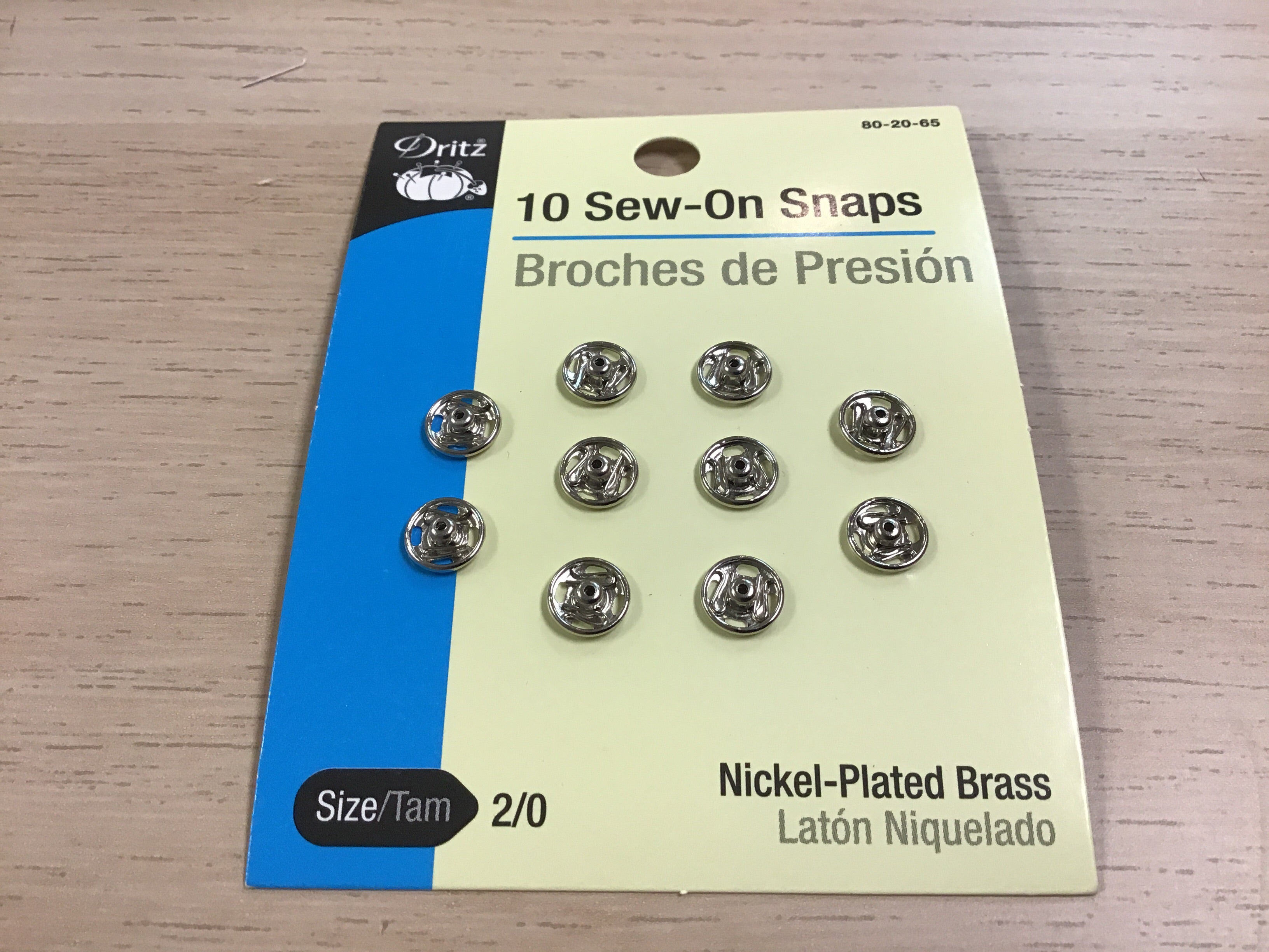 Sew-On-Snaps - set of 10