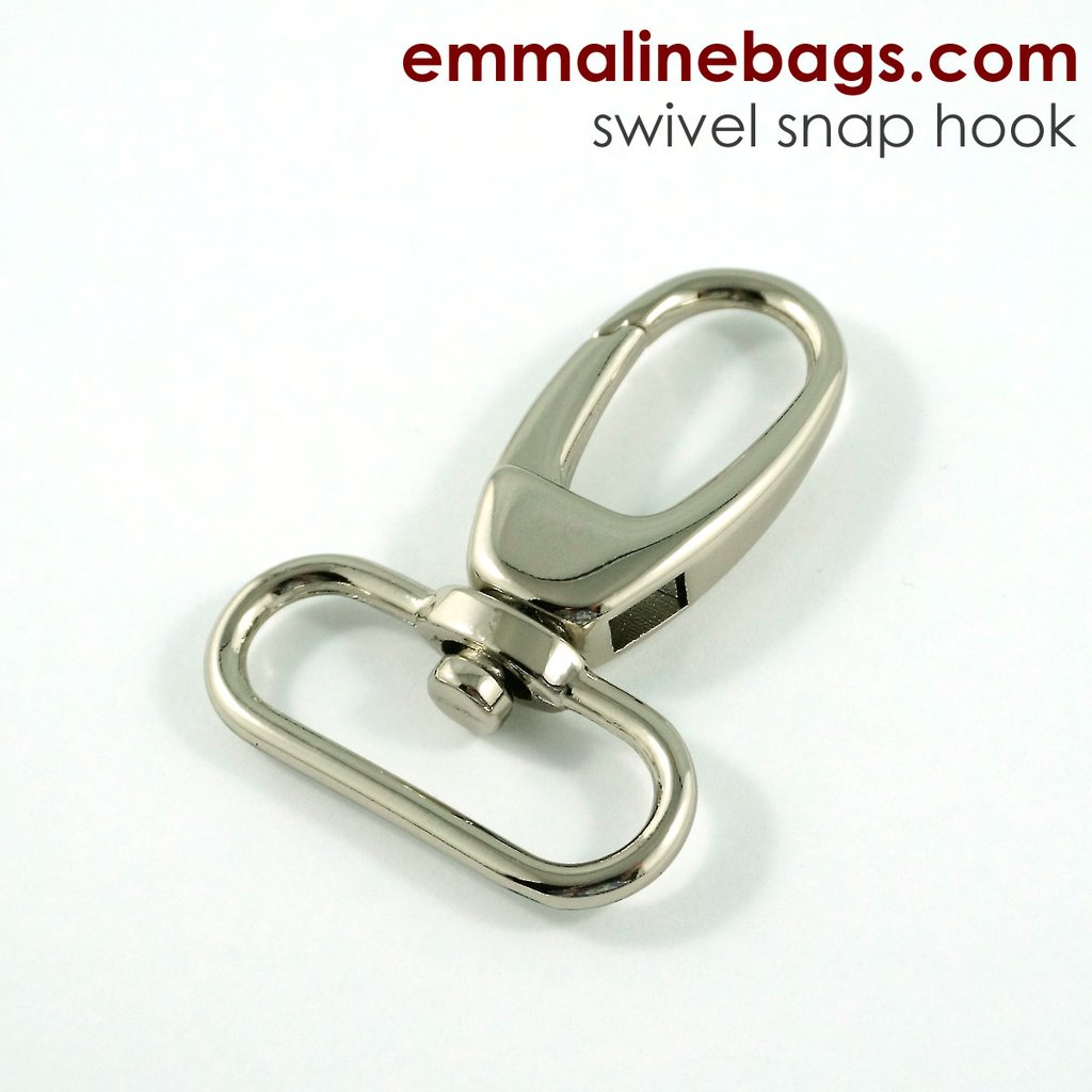 "Swivel Snap Hooks - 1.5"" - Nickel Finish - 2 pack"