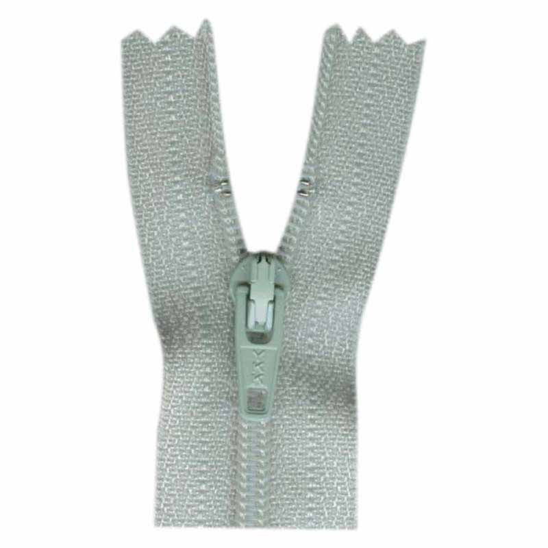 "Closed End Zipper - Light Grey - 9""(23cm) - 0023574"