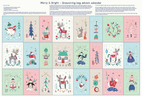 "Merry & Bright Advent Calender - 1462 - (75cm 29.5"")"