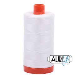 Aurifil Thread - 2021 - Natural White - 50wt - Large Spool