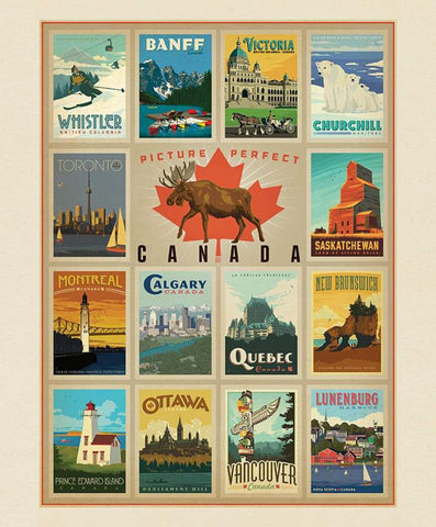 "Destinations Canada Cities Poster panel - P10400 - 35""(90cm)"