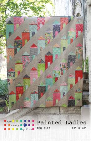 "Painted Ladies Quilt Pattern - 60"" x 72"" - ECQ 2117"