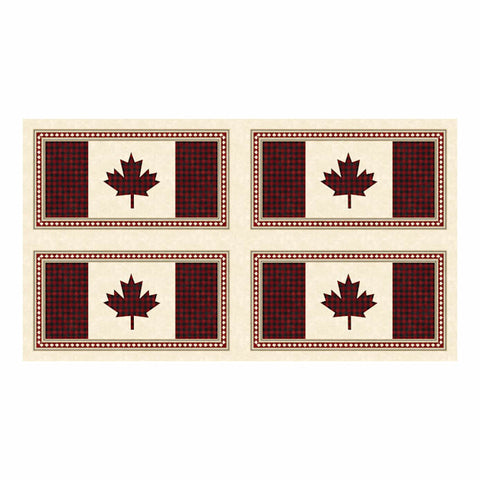 "Canadian Classics 2 - Placemat - Cream Multi - 23128-11 - 12"" or 30.5cm"