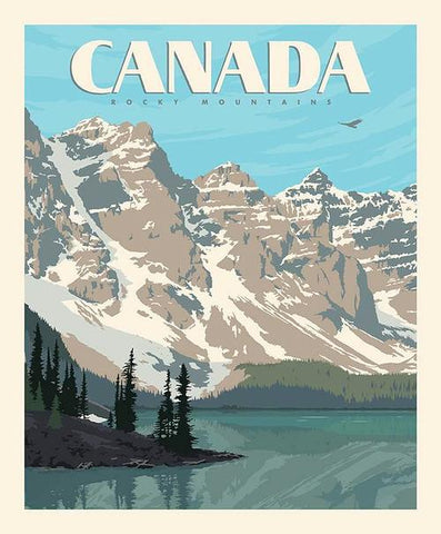 "Destinations Canada Rockies Poster panel - P10401 - 35""(90cm)"