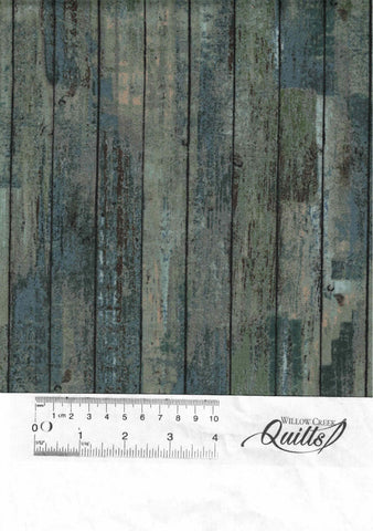 Outdoor Adventure flannel - Distressed Wood - Teal - F23192-66