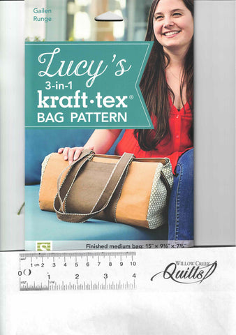 Lucy's 3 in 1 Kraft Tex Bag Pattern - 80086