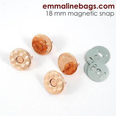 "Magnetic Snap Closure Slim - 3/4"" - Copper Finish - 2 pack"