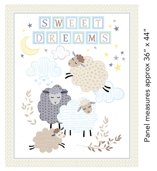 "Sweet Dreams panel - White - 17780-01 - 36""(91cm)"