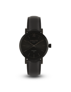 connoisseur black smoke + black strap