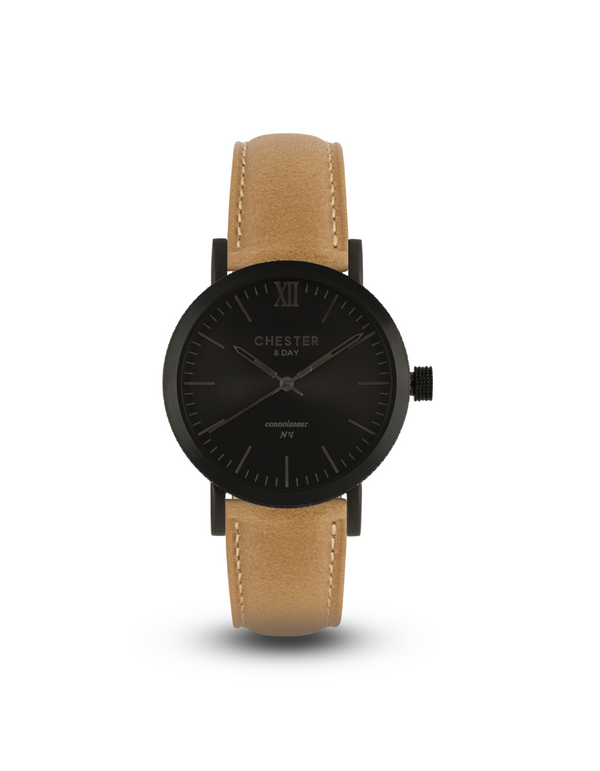 connoisseur black smoke + sand strap