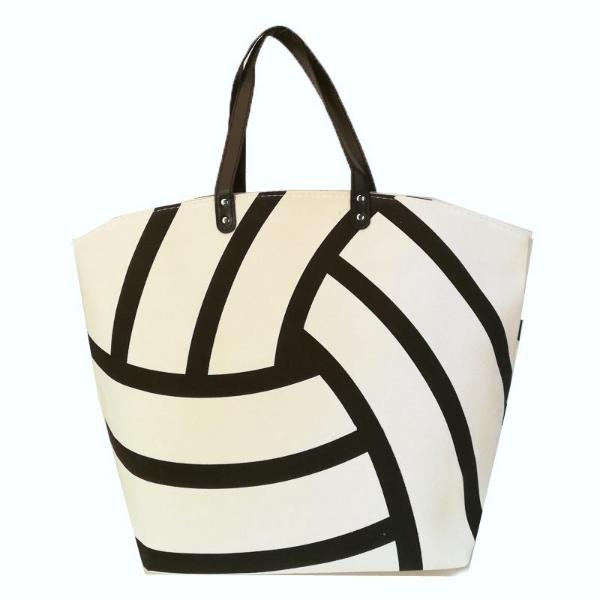 ... XL Volleyball Canvas Tote Bag ... f7529dbfbec8d