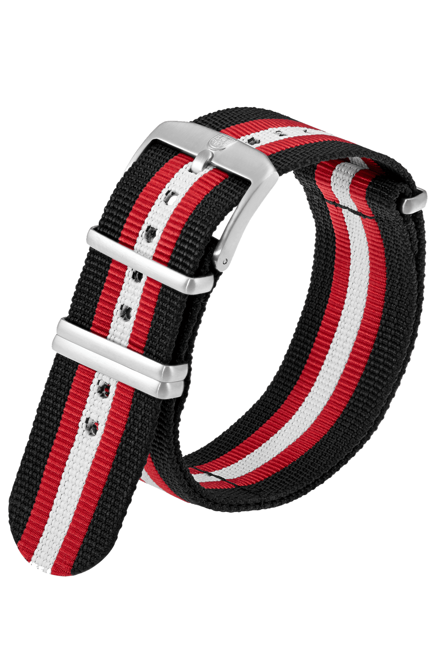 Black Webbing Strap With Red/White Stripe - 23MM