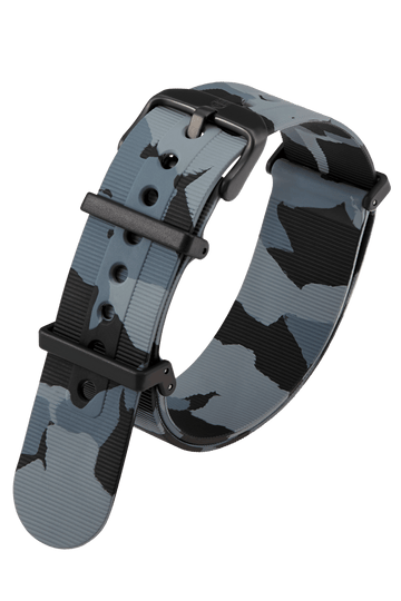 Grey Camouflage Rubber Strap - 22MM