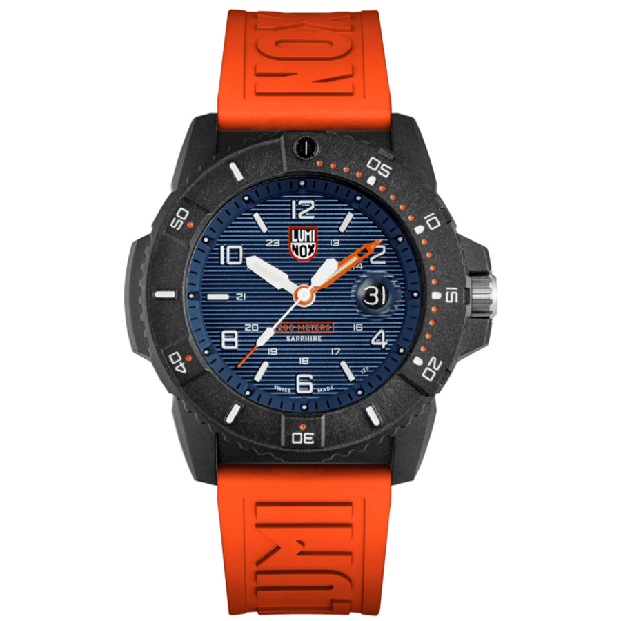 24mm Cut-To-Fit Luminox Branded Strap In Orange