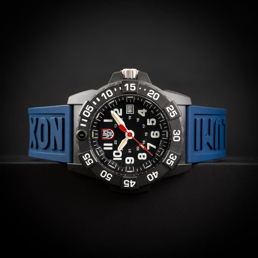 24mm Cut-To-Fit Luminox Branded Strap In Navy Blue