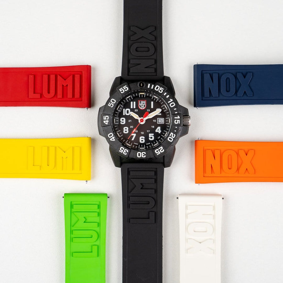 24mm Cut-To-Fit Luminox Branded Strap In Black