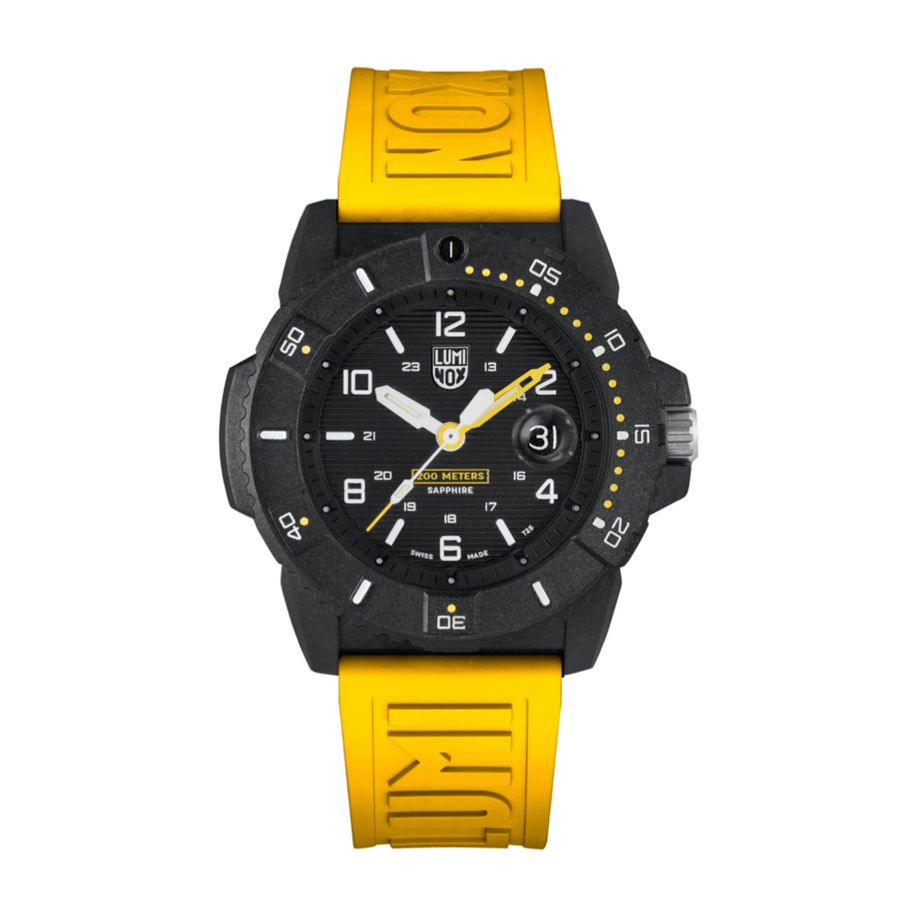 24mm Cut-To-Fit Luminox Branded Strap In Yellow