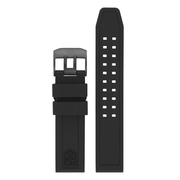 Black Rubber Strap - 23mm