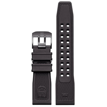 Black Rubber Strap - 24mm