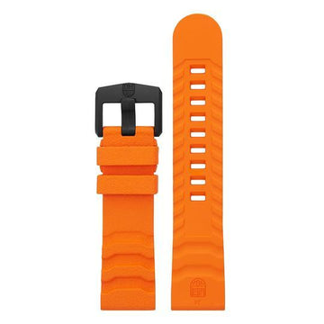 Orange EPDM Rubber Strap - 24mm