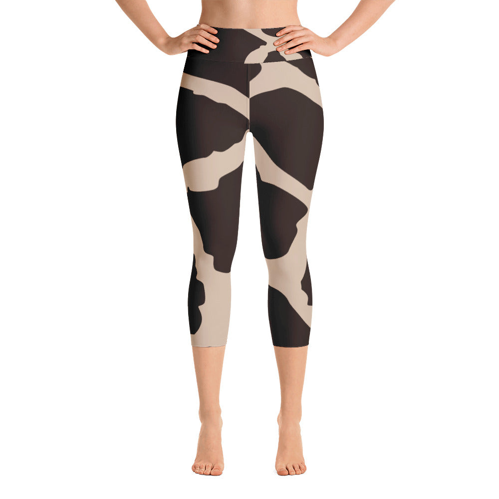35cb19131faa4 Giraffe Pattern Yoga Capri Leggings – Naturally Tall